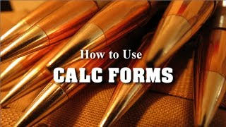 SNIPER 101 Part 78 Ballistic CALCFORMS How To Use