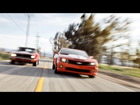 1968 Chevrolet Camaro vs. 2011 Chevrolet Camaro Track Tested Video -- Inside Line