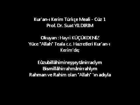 Kur'an-ı Kerim Türkçe Meali - Cüz 1