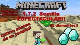 --MINECRAFT 1.7.2--Semilla Con 50 Diamantes,50 Templos,50