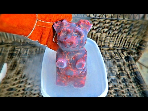 5lb Gummy Bear into Liquid Nitrogen