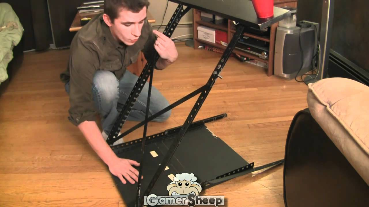 how to build a gaming wheel stand metal