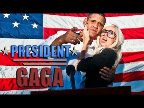 President Gaga by The Hillywood Show®, Lady Gaga runs for President of The United States?! Can't decide between Obama or Romney for 2012? How about GAGA for 2012! She may be holding the key to you...