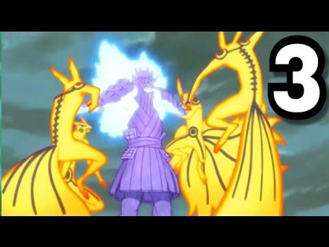 Naruto Vs Sasuke Shippuden Final Full fight Part 3 scene Hd