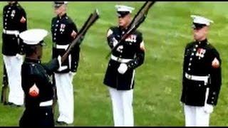Best Marine Silent Drill Platoon Performance Ever W/ USMC