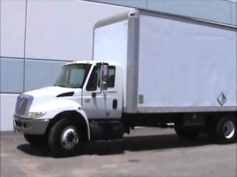 For Sale 2003 International 4300 20' Diesel Box Truck Waltco bidadoo.com