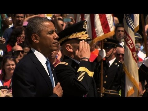 War in Afghanistan will finally end, Obama says on Memorial Day