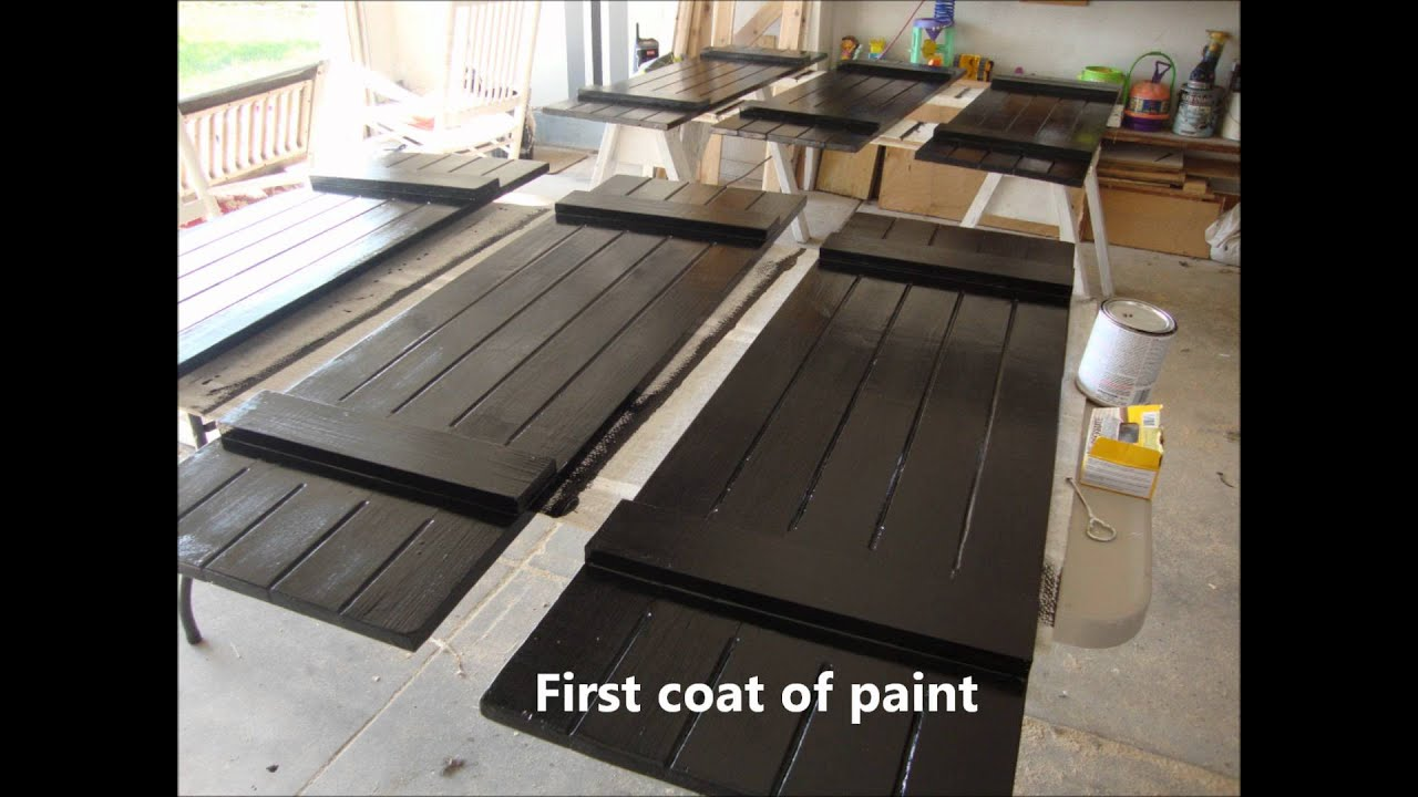 Diy board and batten shutters youtube for Board and batten shutter plans