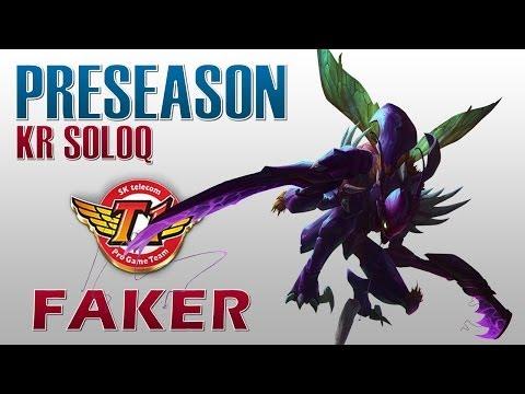 SKT T1 Faker - Kha'Zix vs Zed - Preseason KR SoloQ