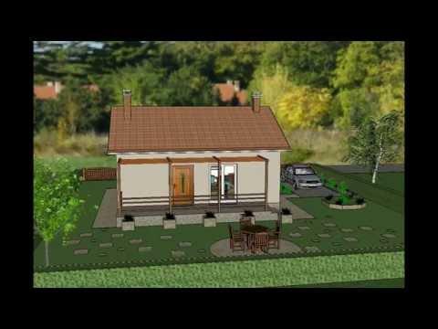 MODEL B-9 by ALIQUANTUM DOO Projekat prizemna dvosobna porodična kuća