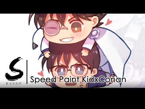 Speed paint / Kid x Conan