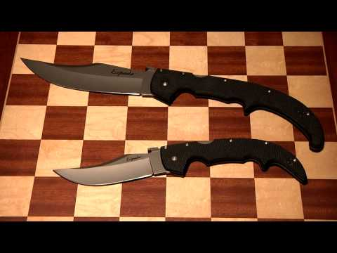 Review of The Cold Steel Extra Large G10 Espada and the Large G10 Espada