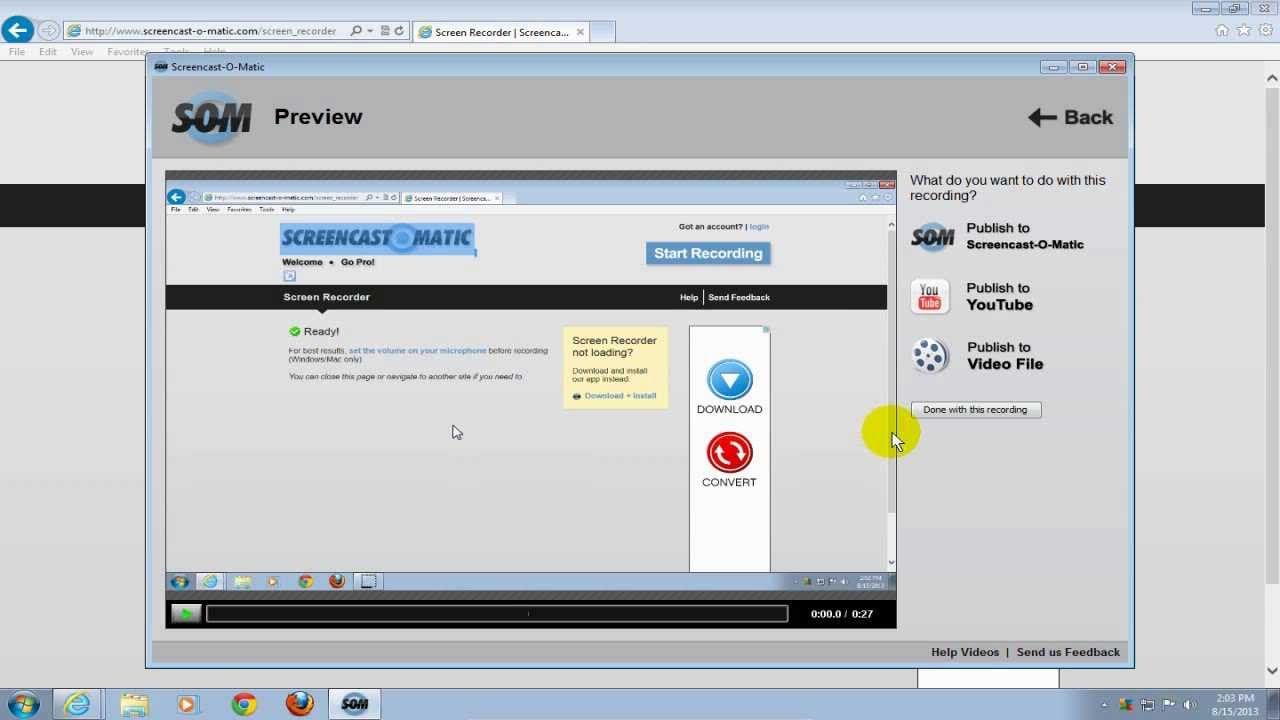 How to record your computer screen windows 7 amp windows 8 hd