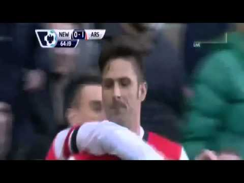 Newcastle vs Arsenal 0-1 Highlights 2013 Giroud Goal English Premier League 30.12.2013
