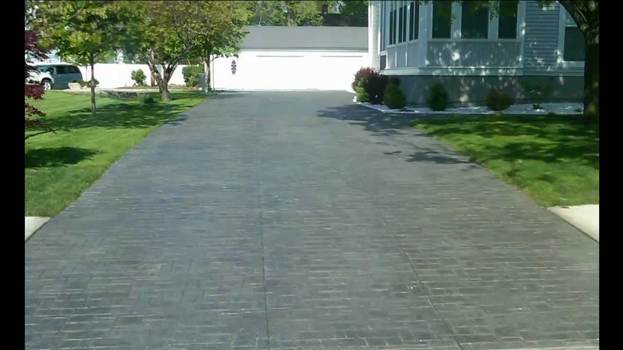 Landscaping Rock Decatur Il : Illinois concrete stamped stained decorative sidewalk