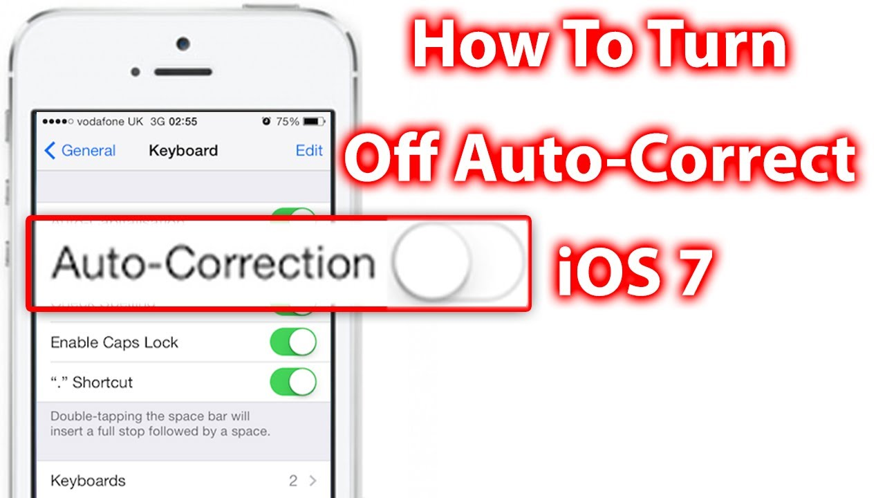 How do i turn off autocorrect on iphone 5s 14