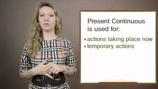 Present Continuous Video Lesson, ABC English