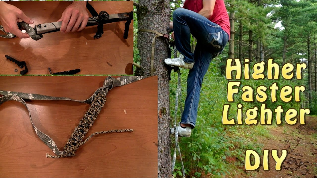 Hunting climbing stick modification higher faster for Diy hunting tree stand