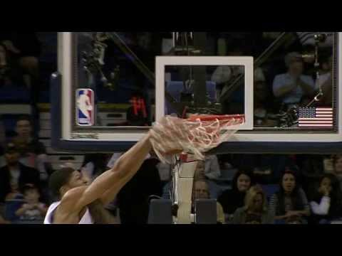 Anthony Davis With the Facial on Miroslav Radulijica