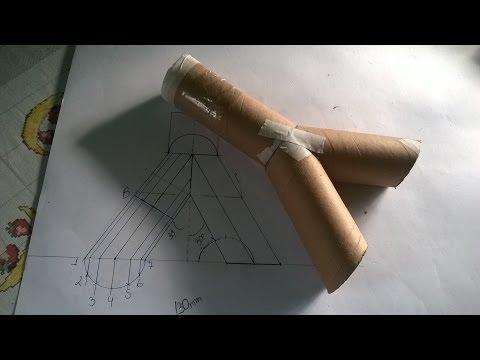 Calça com bases paralelas e diâmetros iguais - traçado de caldeiraria