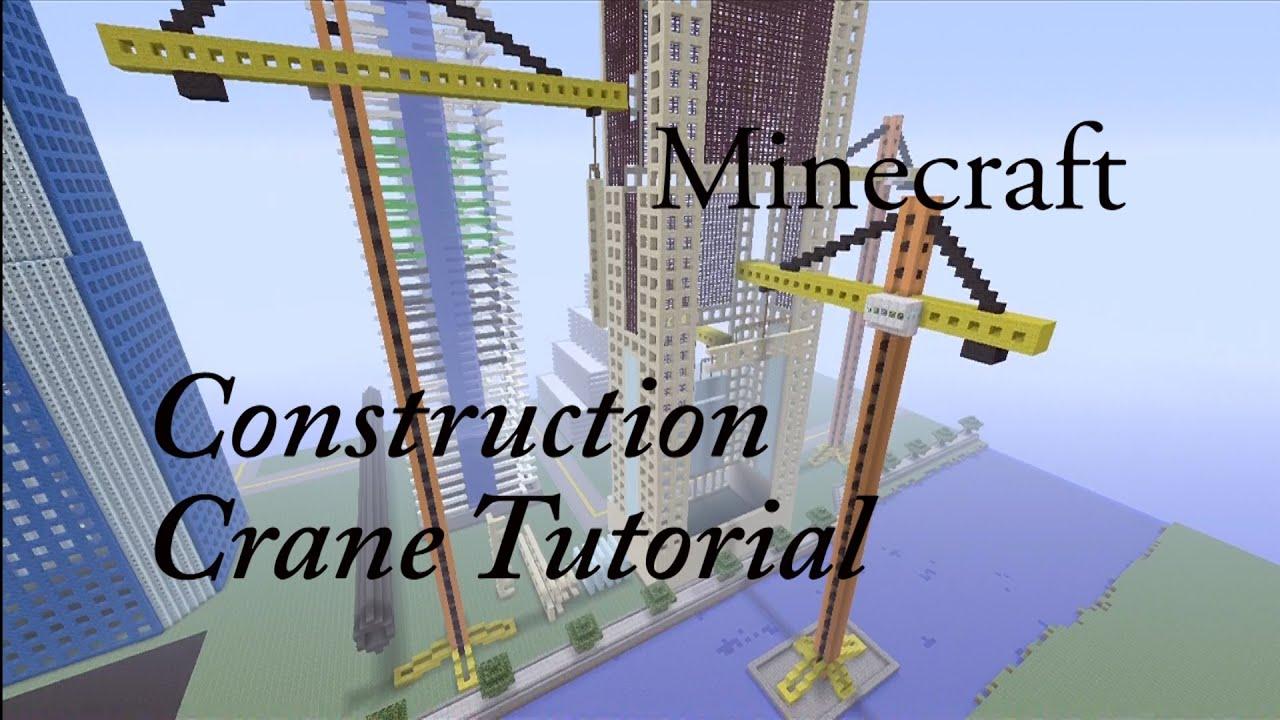 Minecraft construction crane tutorial youtube for Crane tutorial