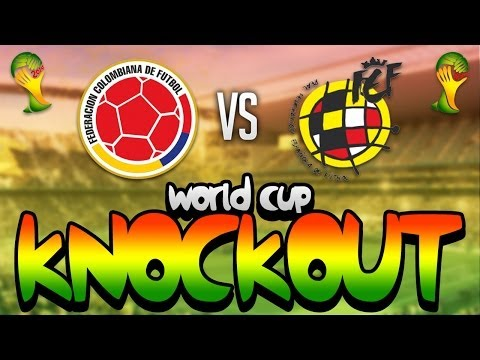 FIFA WORLD CUP BRAZIL 2014 - COLOMBIA VS SPAIN KNOCKOUTS!!!