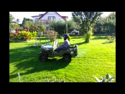Tunning JEEP Willys z 50ccm na 110ccm.mp4