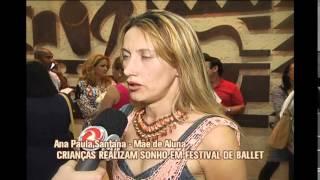 Crian�as realizam sonho em festival de ballet no Bairro Nova Vista