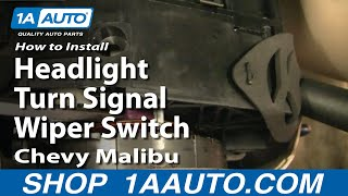 How To Install Replace Headlight Turn Signal Wiper Switch
