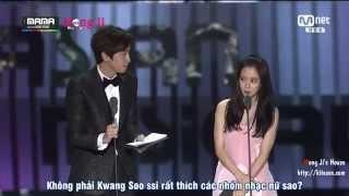 [MongJi'sHouse][Vietsub] Song Ji Hyo & Lee Kwang Soo trao giải tại Mama 2014