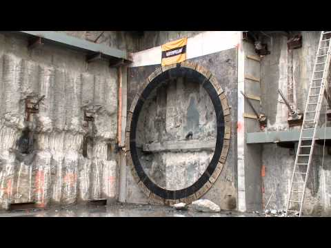 Watch how a subway tunnel is constructed and witness the latest breakthrough of tunnel boring machine