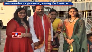 Actress Radha's Family and Satyardha Teertha Swamiji Visit Tirumala