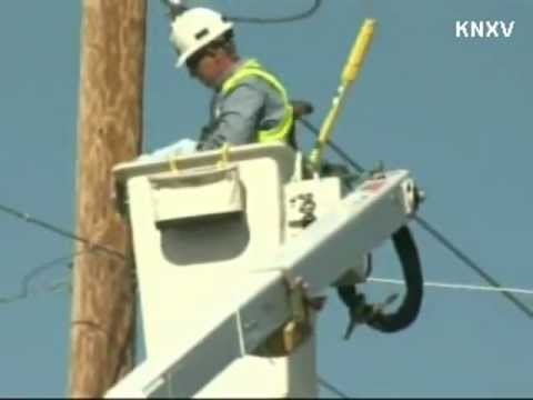 Cat Rescued From Power Line Pole