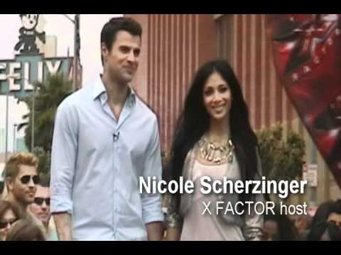 X FACTOR USA: Hosts Nicole Scherzinger & Steve Jones on the Set!