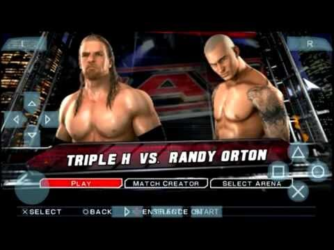 Colors Xfactor Quad Gameplay WWE Smackdown vs Raw 2011 PSP
