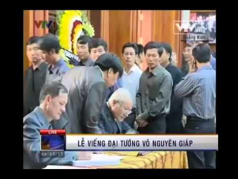 Lễ viếng Đại tướng Võ Nguyên Giáp tại Quảng Bình