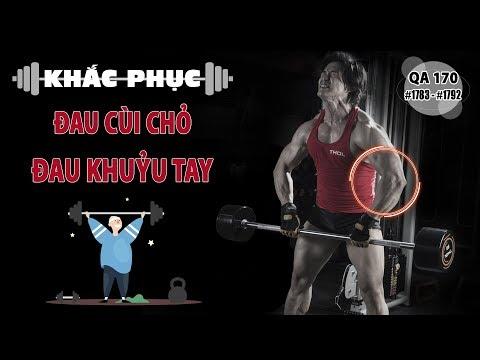 Hỏi đáp thể hình 170 - Khắc phục hiện tượng đau cùi chỏ khi tập các bài tay sau triceps extension