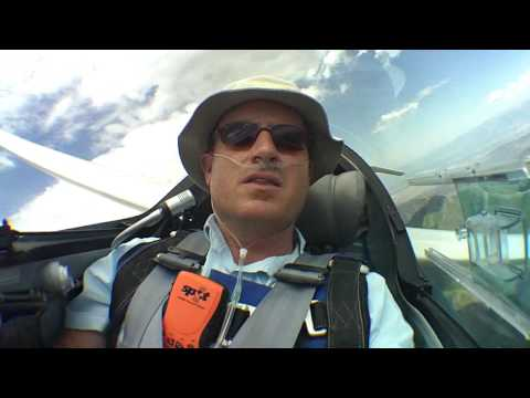 Glider 500km triangle flight