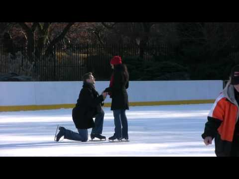 Central Park Wedding Proposal at the Wollman Ice Skating Rink - 12/12/09
