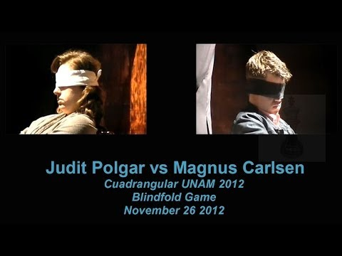 Judit Polgar vs Magnus Carlsen Blindfold Chess Game