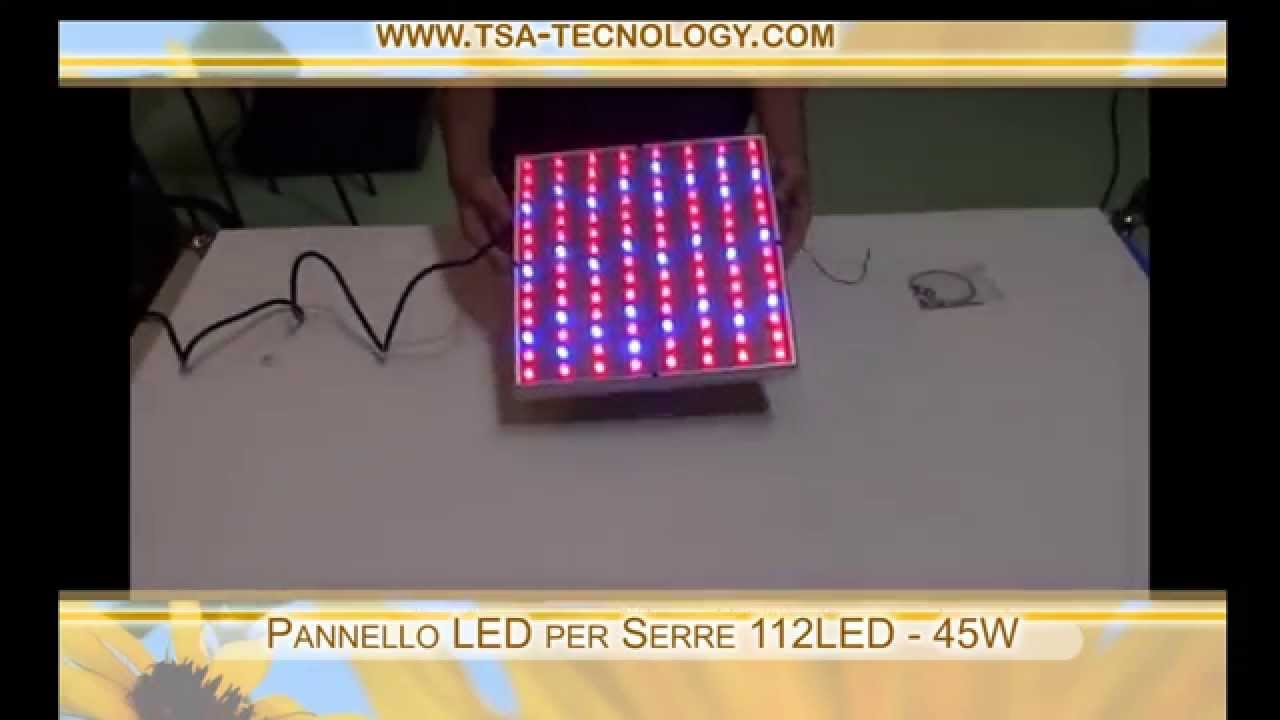 Grow light LED 45 W hydroponic - Pannello LED per Serre 112LED 45W idroponica - YouTube