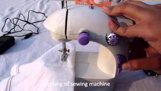 Mini Portable Sewing Machine- Working .wmv