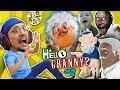 HELLO GRANNY in our HOUSE!!! FGTEEV ❤️'s GRANNY BABE! Hello Neighbor Granny's House Mod Game #2