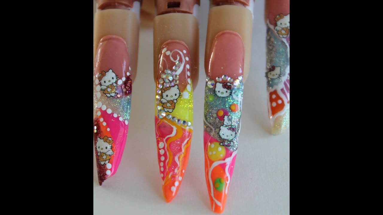 Hello Kitty Nail Art Step By Step