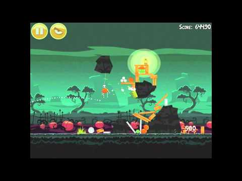 Angry Birds Seasons Ham'o'ween 2-12 Halloween 2012 Hamoween Walkthrough 3 Star