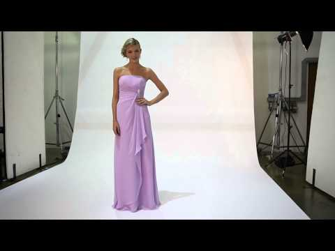 Tiffanys Serenade Jackie bridesmaid dress in Plum