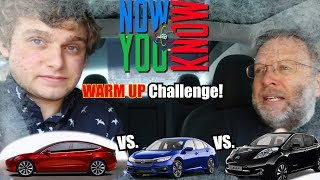 Model 3 vs. ICE car vs. Nissan Leaf Heating Challenge!