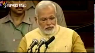 Narendra Modi's First Speech In Parliament !