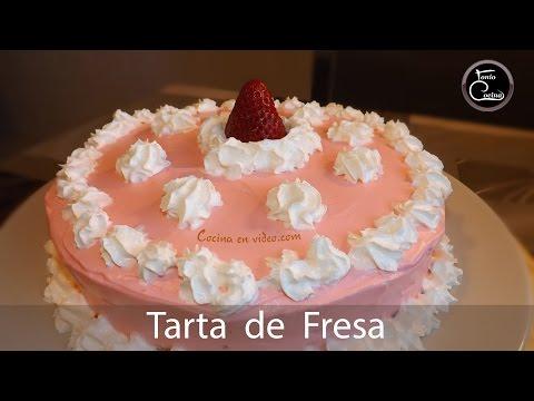 Tarta de Fresa jugosa y muy sabrosa - Strawberry Cake,  264  #CocinaEnVideo