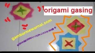 Cara Membuat Origami Gasing